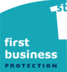first business protection Logo - 50mm h (L) - OL - CMYK
